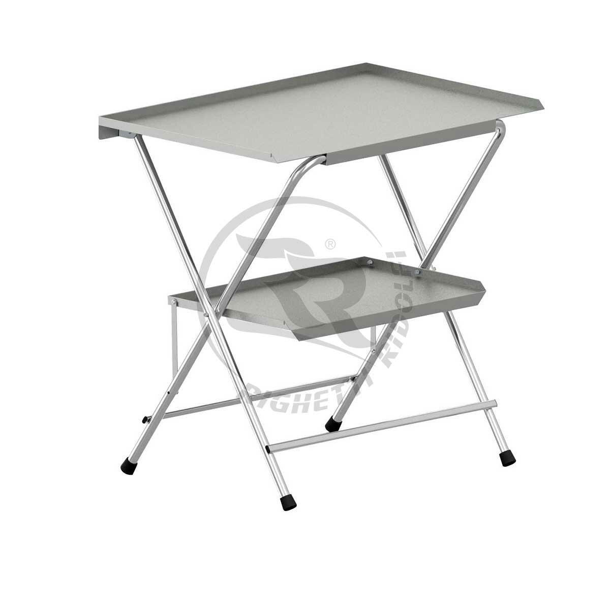 Tavolino da lavoro pieghevole a due piani righetti e ridolfi - Tavolo da lavoro pieghevole ...
